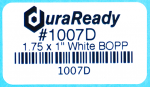 "The perfect sized label, 1.75 x 1.0"" white BOPP, for barcodes, asset tagging, and product identification."