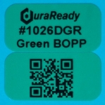 "Forest green, 2-up 0.5 x 1"" BOPP labels, great for product size, price tag, SKU, lot, date or item id's as well as dispensary, vaping, and e-liquid labels."