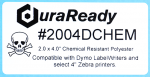 "2004DCHEM 2.0 x 4.0"" White Chemical Resistant PET label"