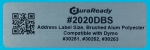 "Outdoor-rated, 1.125 x 3.5"" brushed aluminum polyester address label."