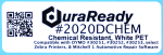 "2020DCHEM 1.125 x 3.5"" Chemical Resistant White Polyester Plastic label"