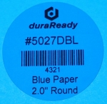 "5027DBL 2.0"" Round Blue Paper label"