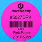 "Eye-catching, 2"" round bright pink paper labels, ideal for candles, jars, lids and caps, color-coding labels, vape and dispensary labels."