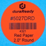 "Eye-catching, 2"" round red pink paper labels, ideal for candles, jars, lids and caps, color-coding labels, vape and dispensary labels."
