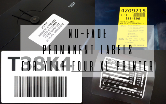 Durable No-fade Dymo 4XL Printer Labels