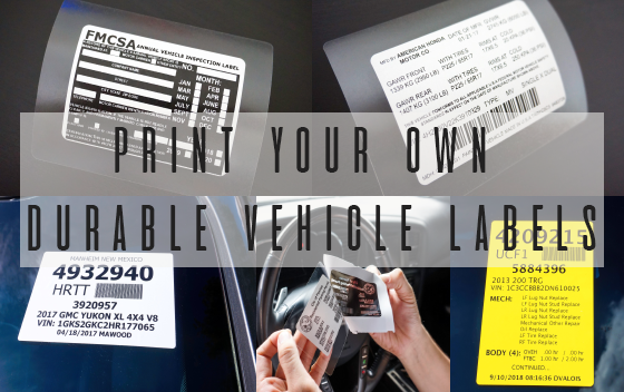 Automotive ID and Underhood Labeling