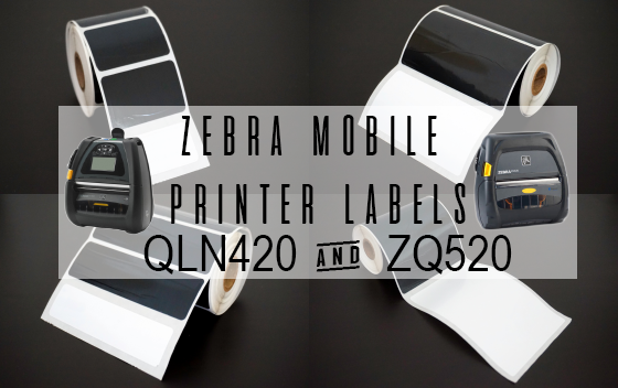 Durable No-Fade Zebra Mobile Printer Labels
