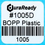 "1005D 1.0 x 1.0"" White BOPP plastic label"