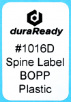 "1016D 1.0 x 1.5"" White BOPP plastic label"