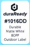 "Extra durable, matte white BOPP, 1.0 x 1.5"" outdoor labels for nursery and horticulture use!"