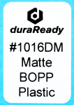 "1016DM 1.0 x 1.5"" Matte White BOPP plastic label"