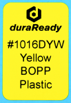 "1016DYW 1.0 x 1.5"" Yellow BOPP plastic label"