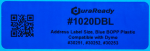 "1020DBL 1.125 x 3.5"" Blue BOPP plastic label"