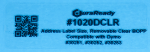 "1020DCLR 1.125 x 3.5"" Clear Removable BOPP plastic label"