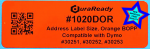 "Glossy orange, 1.125 x 3.5"" BOPP labels, ideal for shipping/logistics, and EHR/EMR practice management, also compatible with Mitchell 1 Automotive Repair Software for service reminders."