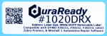 "#1020DRX, extra capacity roll of DuraReady's 1.125 x 3.5"" BOPP removable windshield labels, compatible with Mitchell 1 automotive repair software for oil change reminders and more."
