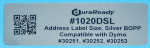 "1020DSL 1.125 x 3.5"" Bright Silver BOPP Plastic label"