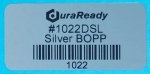 "Mirror-like, silver 2 x 1"" BOPP DuraReady label for eye-catching address labels, vape labels and e-liquid labels."