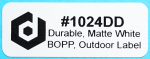 "Durable, matte white 0.75 x 2.0"" outdoor BOPP labels ideal for nursery and horticulture use!"