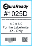 "Extra large, 4 x 6"" white shipping labels made of tough plastic to resist moisture, sunlight, UV, temperature and many other environmental hazards."