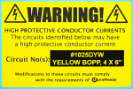 "1025DYW 4.0 x 6.0"" Yellow BOPP plastic label, for Dymo 4XL Printer Only"