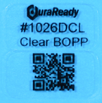 "Unobtrusive,  2-up 0.5 x 1"" crystal clear DuraReady label, great for product size, price tag, SKU, lot, date or item id's as well as dispensary, vaping, and e-liquid labels."