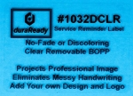 "1032DCLR 1.75 x 2.5"" Clear removable BOPP plastic label"