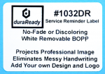 "1032DR 1.75 x 2.5"" White removable BOPP plastic label"