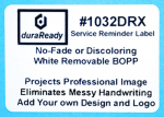 "1032DRX 1.75 x 2.5"" Large Roll of White removable BOPP plastic label"