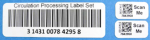 "Durable, matte white, 1.0 x 3.0 and 2 0.5 x 1.0"" 2-up labels, perfect for circulation labeling."
