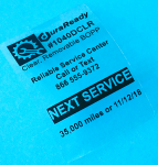 "Durable clear BOPP plastic, 2 x 3"" with removability that is perfect for windshield use, service reminders and oil change stickers."