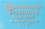 "1040DCLS 2 x 3"" Clear BOPP Plastic with Silver Ribbon"