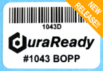 "#1043D, 1.625 x 1.125"" White BOPP Plastic DuraReady Label, 450 labels per roll, Compatible with Dymo Labelwriter label #30252, select Zebra printers"