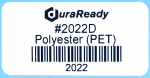 "Outdoor-rated, 2 x 1"" white gloss polyester labels for UV and heat resistant applications."