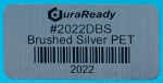 "2022DBS 2.0 x 1.0"" Brushed Aluminum Polyester label"