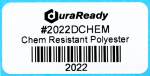 "2022DCHEM 2.0 x 1.0"" White Chemical Resistant PET label"