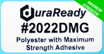 #2022DMG, white polyester with maximum grip strength available on a pressure sensitive label today.