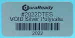 "Eye-catching, mirror-like silver 2 x 1"" VOID polyester label, the added security and traceability you have been looking for."