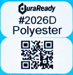 "Extra small, 2-up 0.5 x 1"" UV and heat resistant white polyester labels, ideal for outdoor use."