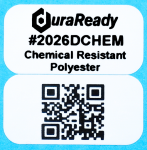 "2026DCHEM 0.5 x 1.0"" White Chemical Resistant PET 2-up  label"