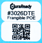 "Frangible, 0.5 x 1"" 2-up white polyolefin labels used to print lot codes, dates, item id's, and manufacturing codes on your seals for better control and traceability."