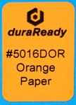 "Multipurpose, 1.0 x 1.5"" bright orange paper label, perfect for bibliography, classification, and cataloging."